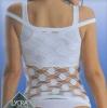 Безшовная женская майка в крупную сетку из микрофибры и эластана. Арт. 421т. Світ текстилю та трикотажу